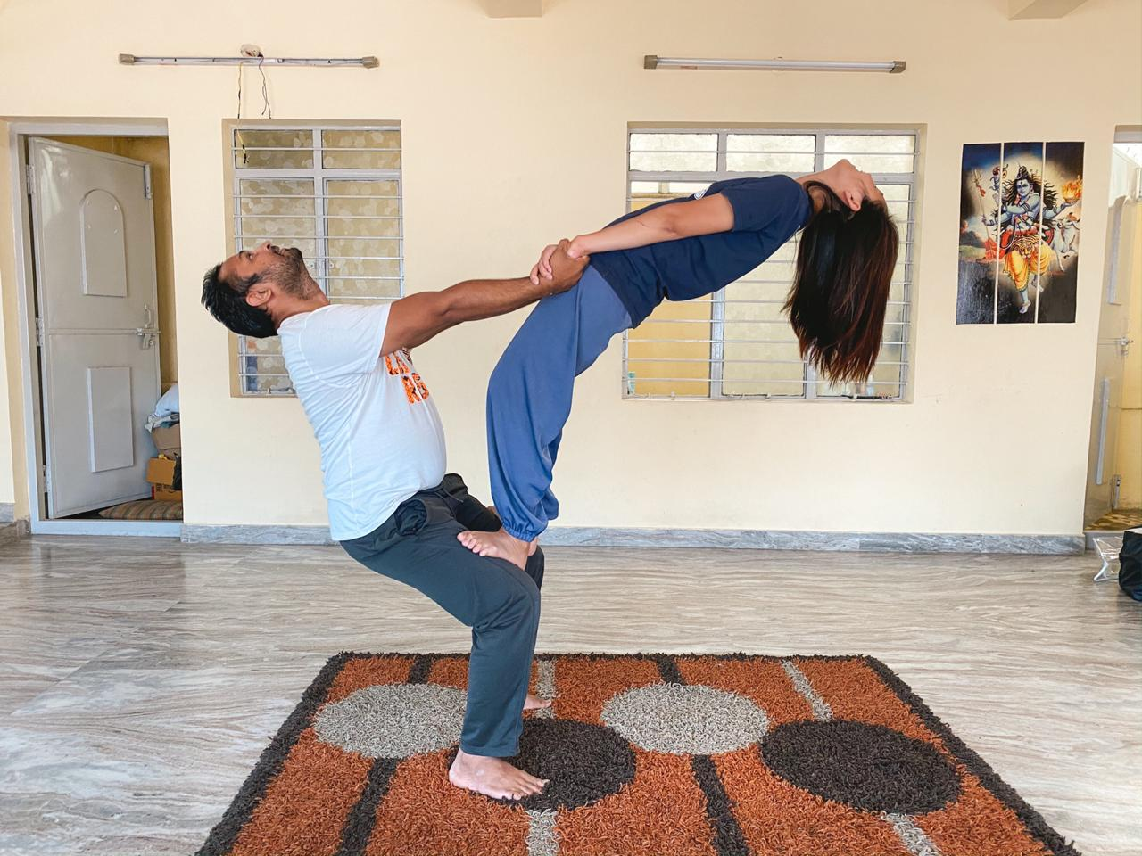 Stretching to open up the Body for Asanas